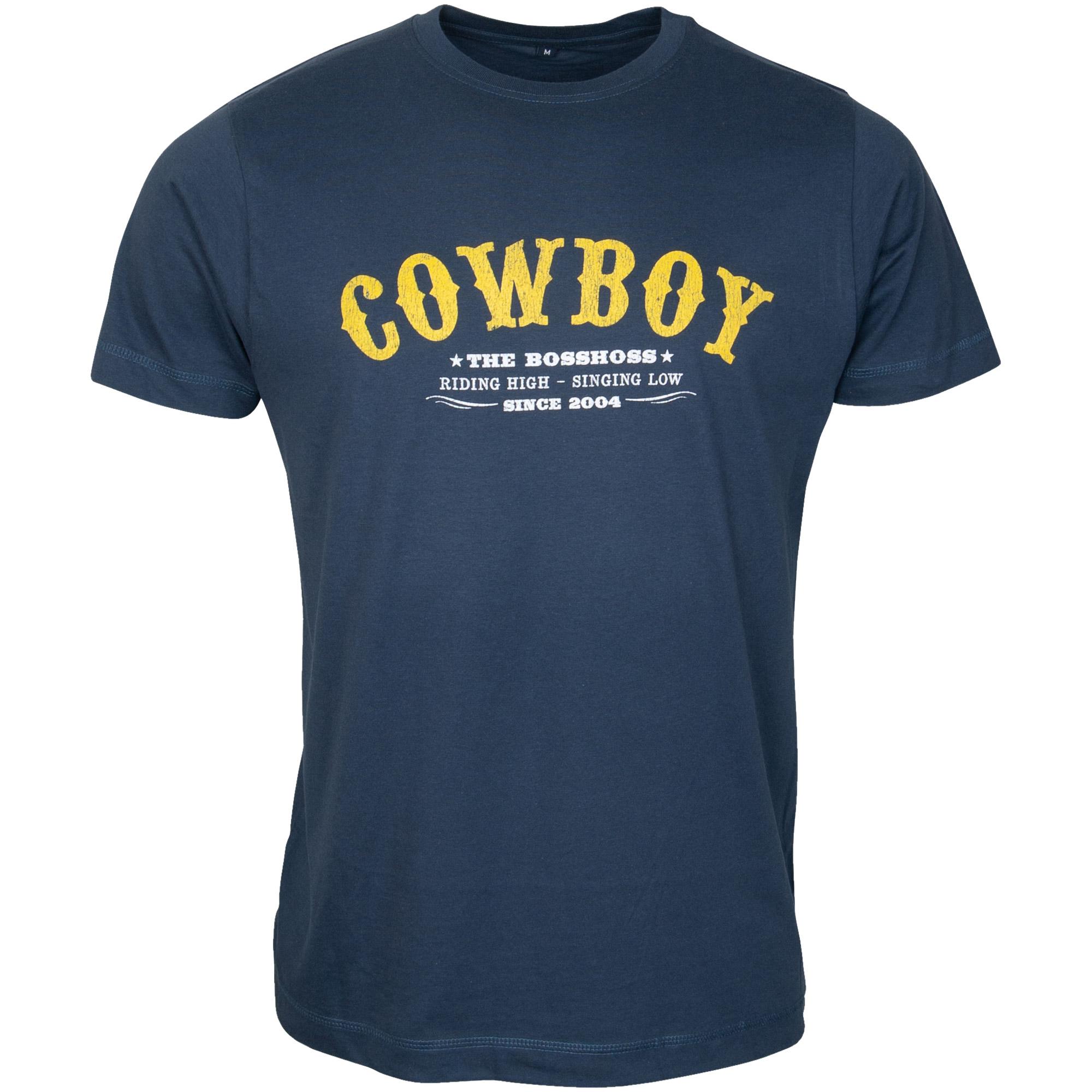 The Bosshoss - T-Shirt Vintage Cowboy - blau
