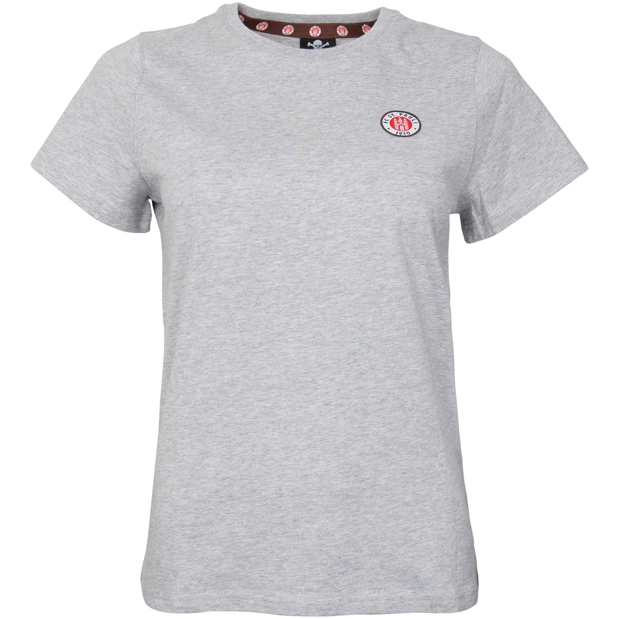 FC St. Pauli - Damen T-Shirt Club mit Logo - grau