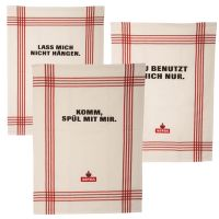 Astra - Geschirrhandtücher 3er Set - weiß