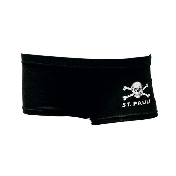 FC St. Pauli - Hot Pants Totenkopf - schwarz