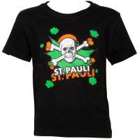 FC St. Pauli - Kinder T-Shirt Totenkopf Pow Schwarz-Grün - schwarz