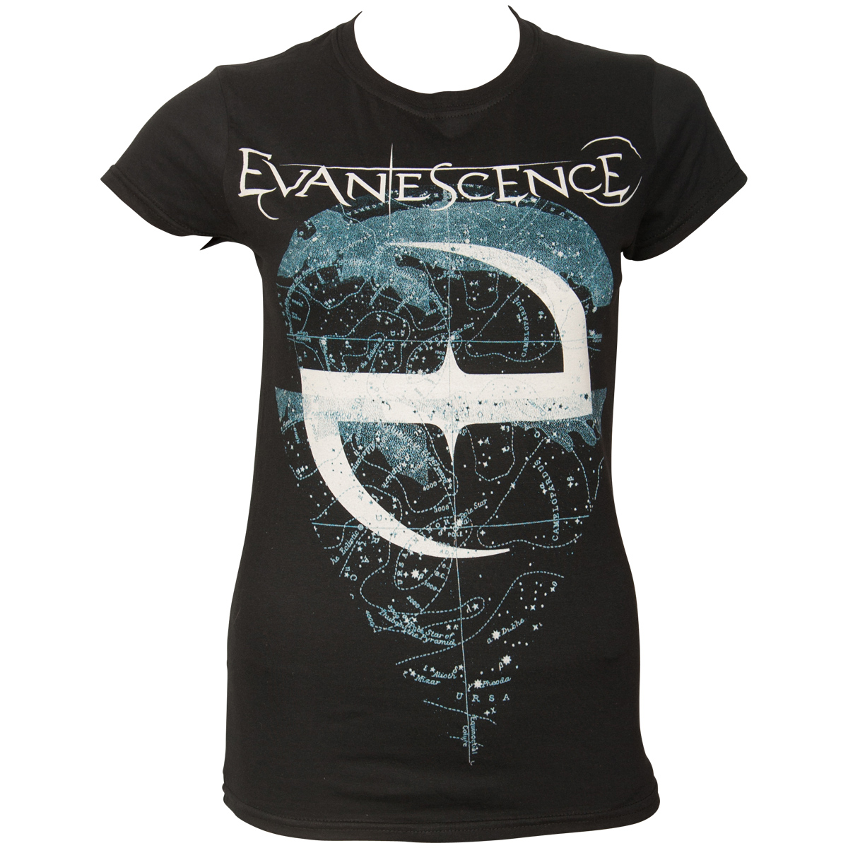 Evanescence - Damen T-Shirt Space Map - schwarz