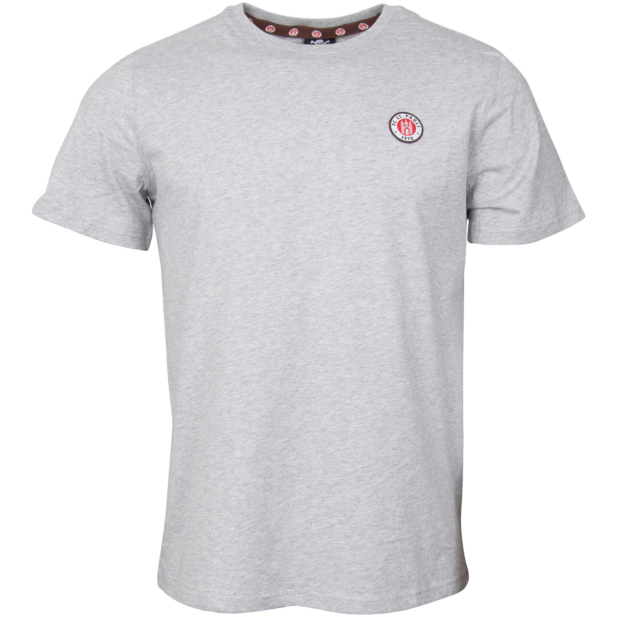 FC St. Pauli - T-Shirt Club mit Logo - grau
