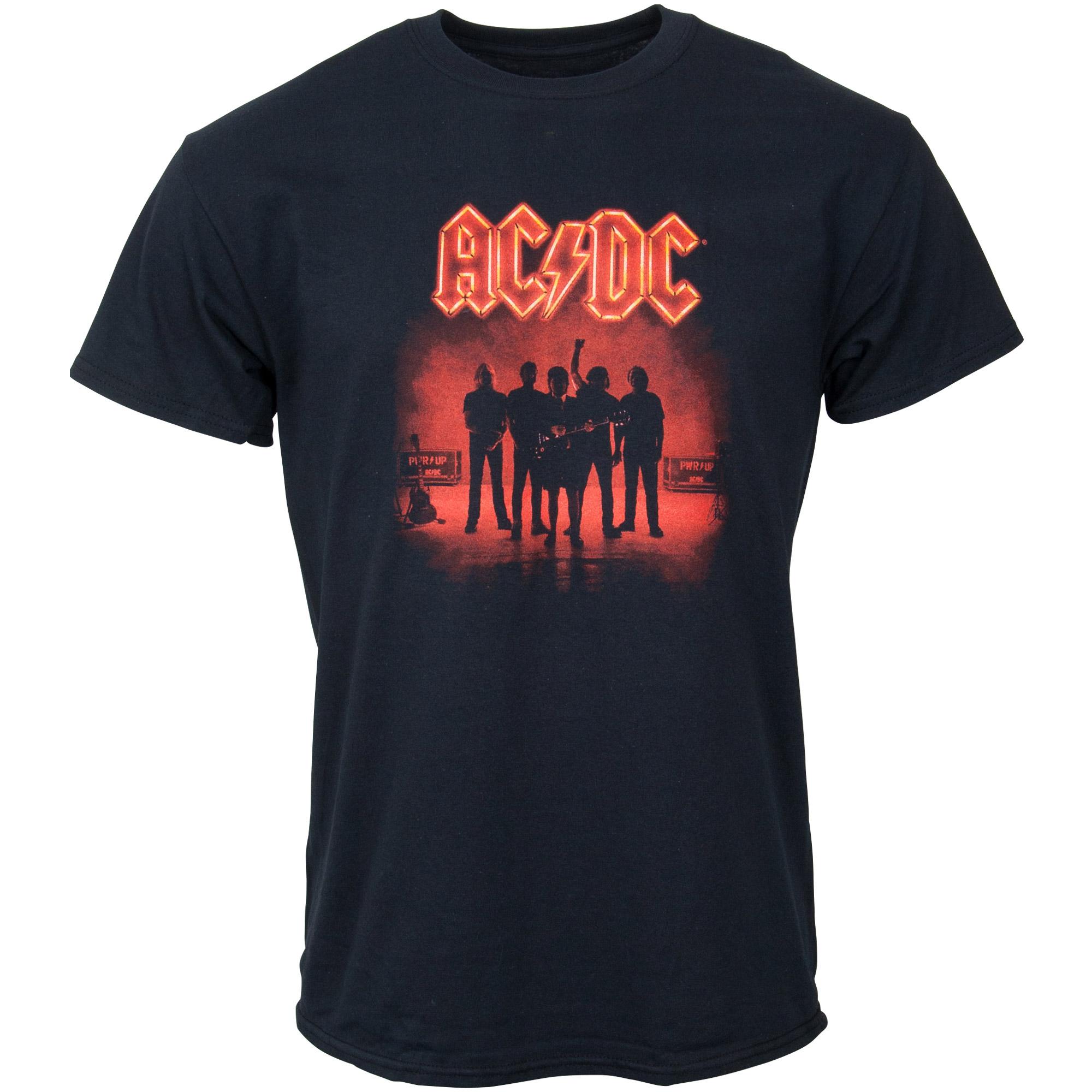 AC/DC - T-Shirt Silhouette - schwarz