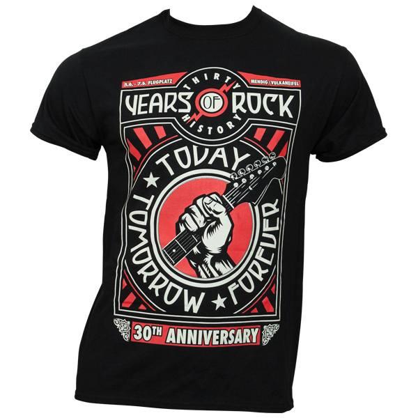 Rock am Ring 2015 - T-Shirt 30th Anniversary mit Line-Up - schwarz