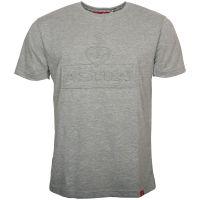 Astra - T-Shirt 3D Logo geprägt - grau