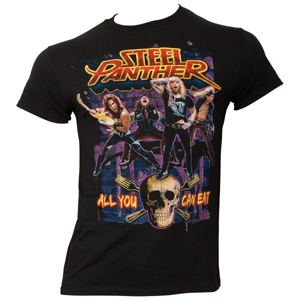 Steel Panther - T-Shirt AYCE - All You Can Eat - schwarz