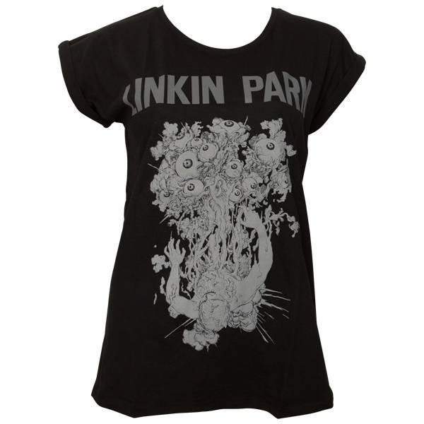 Linkin Park - Frauen T-Shirt Eye Guts - schwarz