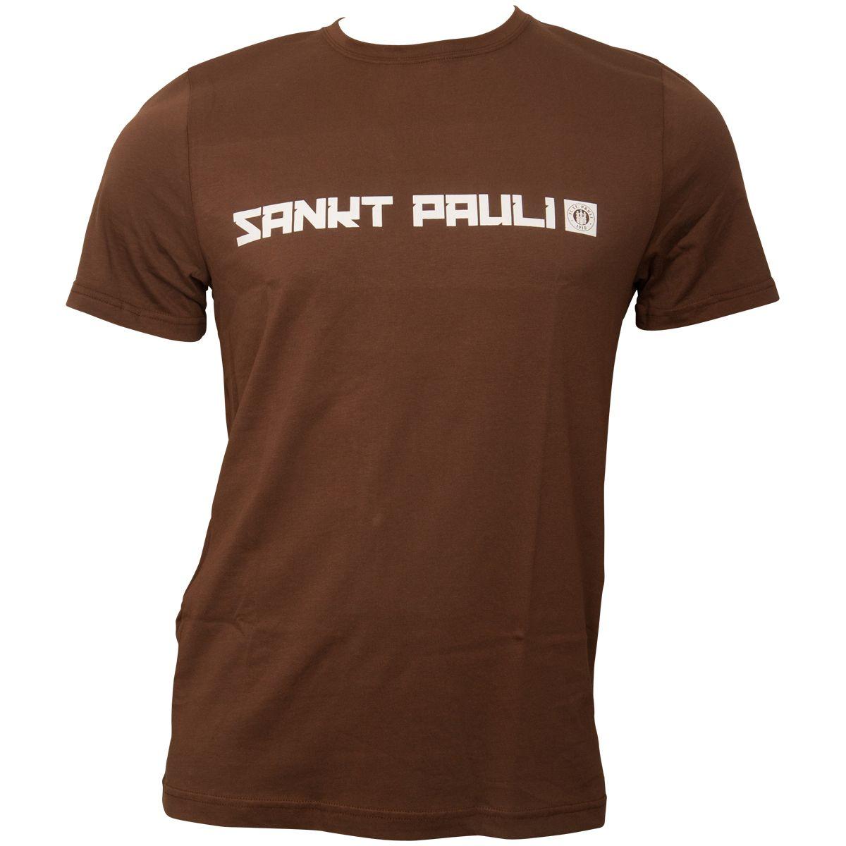 FC St. Pauli - T-Shirt Sankt Pauli Logo - braun