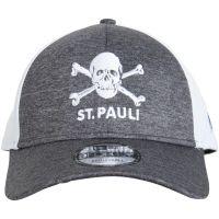 FC St. Pauli - Cap New Era Trucker Totenkopf - grau-weiß