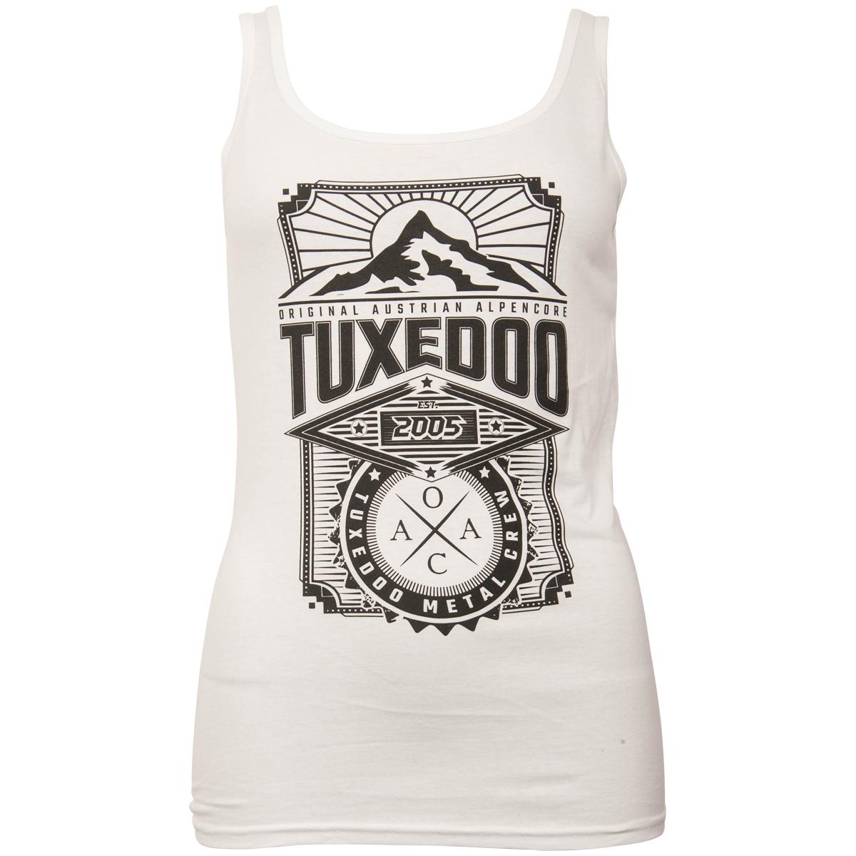 tuXedoo - Girlie Tanktop Berg - weiß