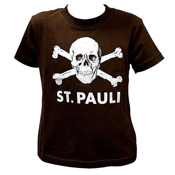 FC St. Pauli - Kinder T-Shirt Totenkopf - braun