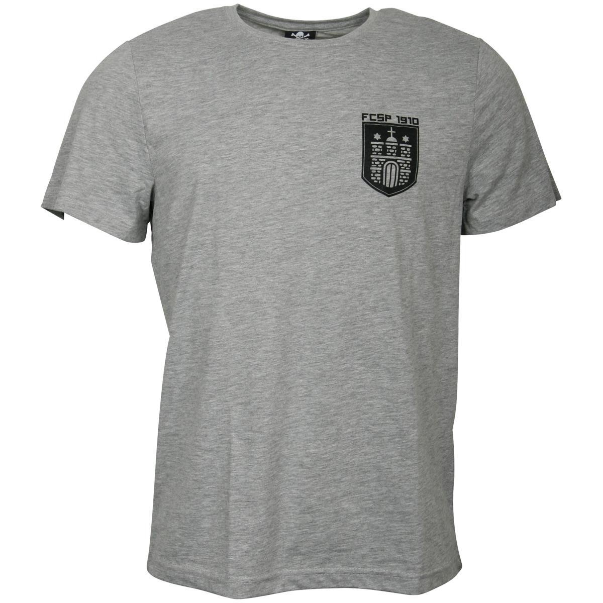 FC St. Pauli - T-Shirt Wappen - grau
