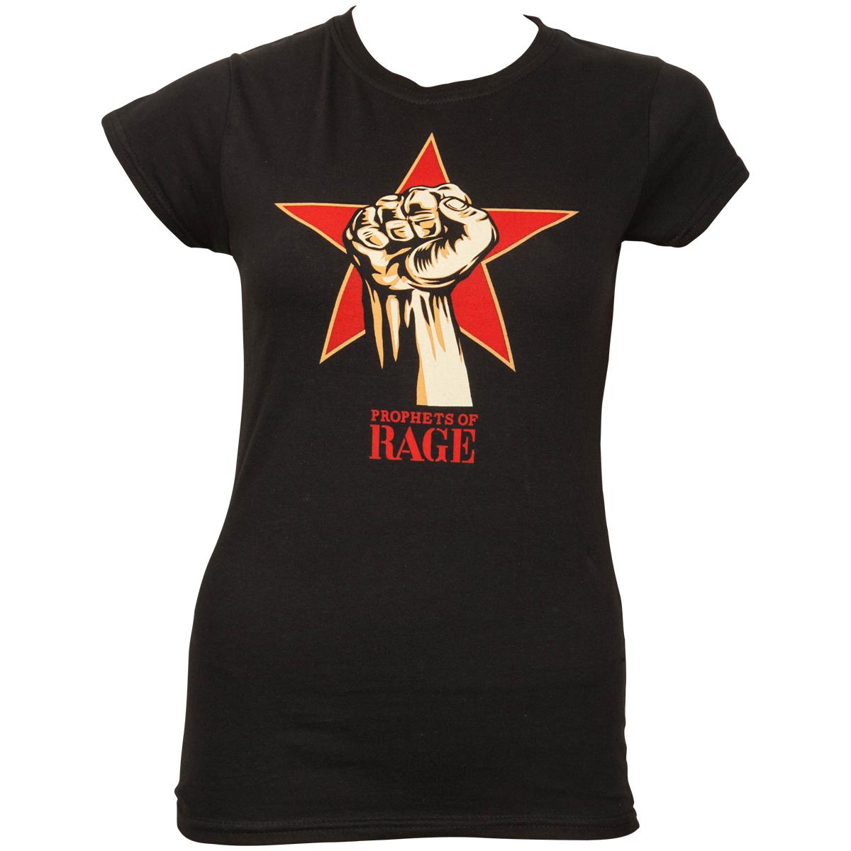 Prophets of Rage - Frauen T-Shirt Power Fist - schwarz