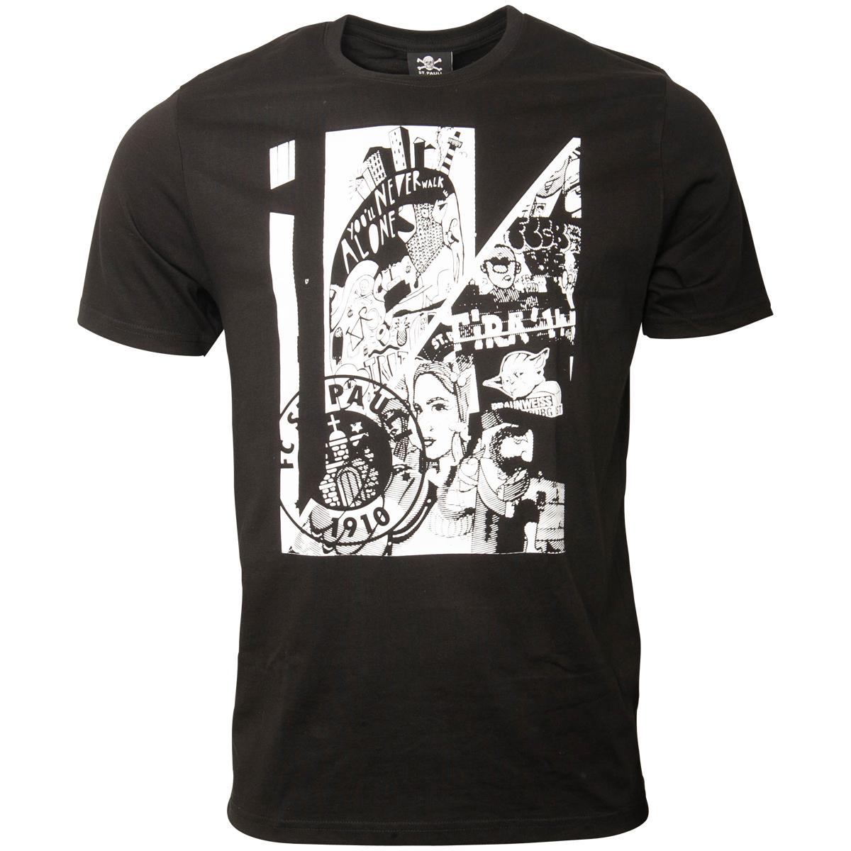 FC St. Pauli - T-Shirt Art - schwarz