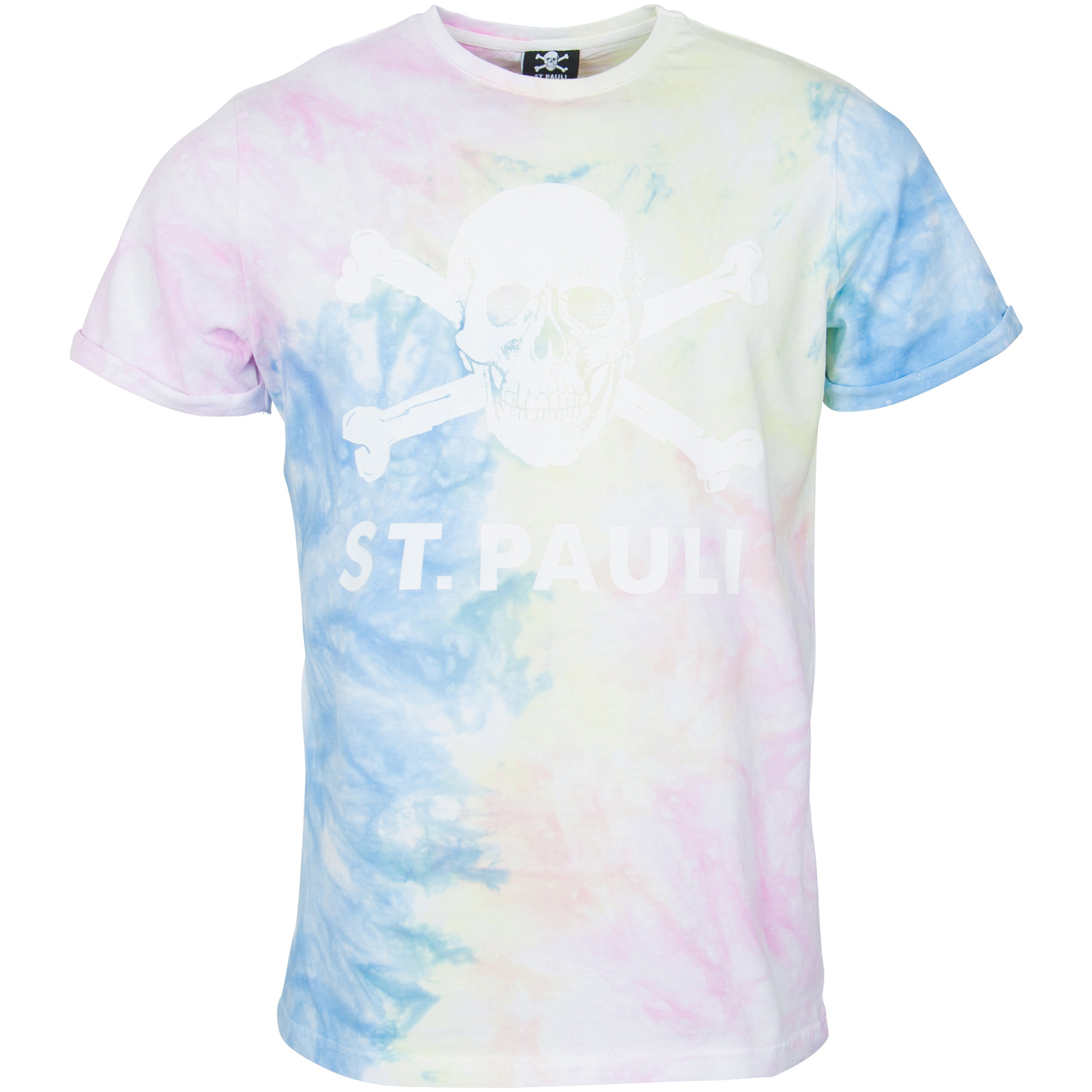 FC St. Pauli - T-Shirt Pastell Batik Totenkopf