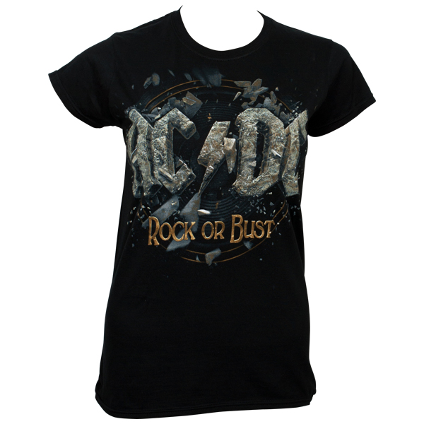 AC/DC - Girl T-Shirt Rock Or Bust - schwarz