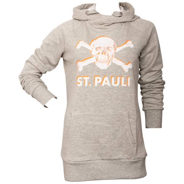 FC St. Pauli Frauen Kapuzenpullover Hot Orange