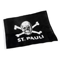 FC St. Pauli - Fahne Totenkopf klein 30x40 cm - schwarz