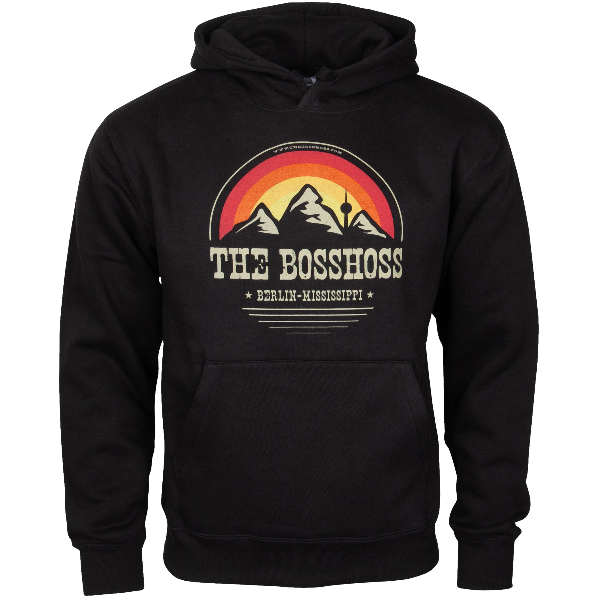 The BossHoss - Kapuzenpullover Mountain Range Vintage - schwarz