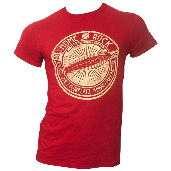 Rock am Ring 2016 - T-Shirt Logo Zeppelin mit Lineup - rot