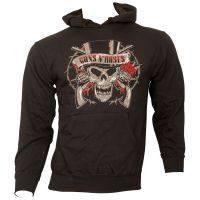 Guns N Roses - Kapuzenpullover Distressed Skull - schwarz