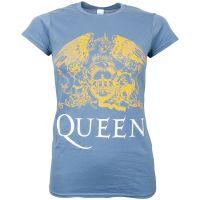 Queen - Damen T-Shirt Classic Crest - blau