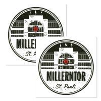 FC St. Pauli - Fliesenaufkleber Millerntor 2er Set