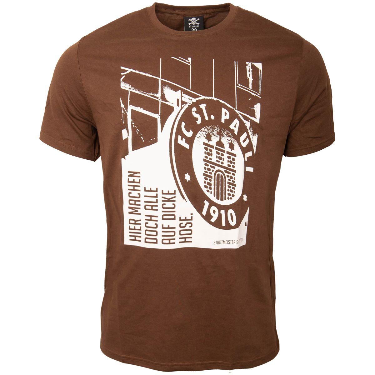 FC St. Pauli - T-Shirt Dicke Hose - braun