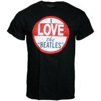 The Beatles - T-Shirt I Love The Beatles - schwarz