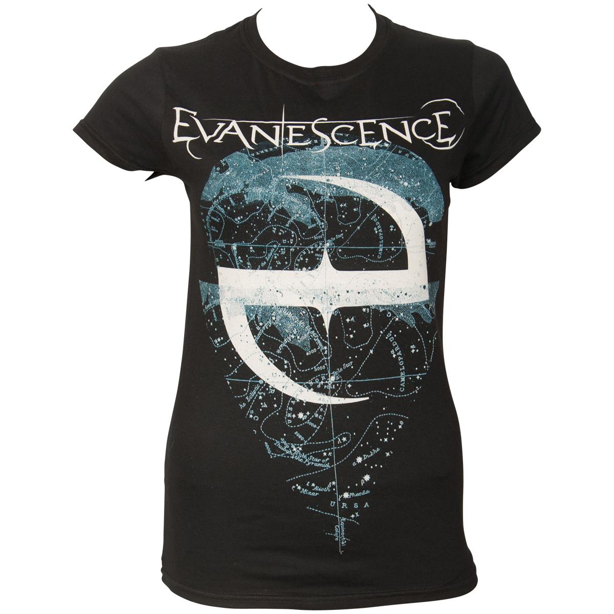 Evanescence - Damen T-Shirt Space Map - schwarz