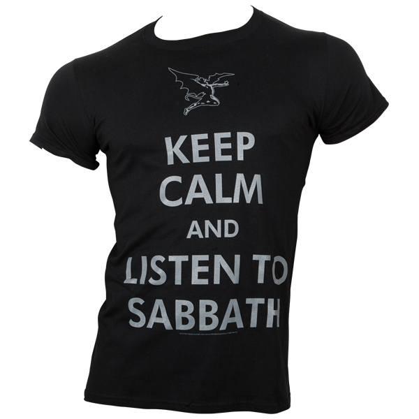 Black Sabbath - T-Shirt Keep Calm - schwarz