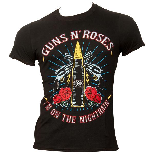 Guns N Roses - T-Shirt Night Train - schwarz