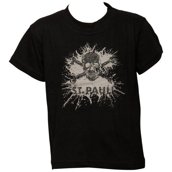 FC St. Pauli Kinder T-Shirt Splash TK Schwarz-Hellgrau