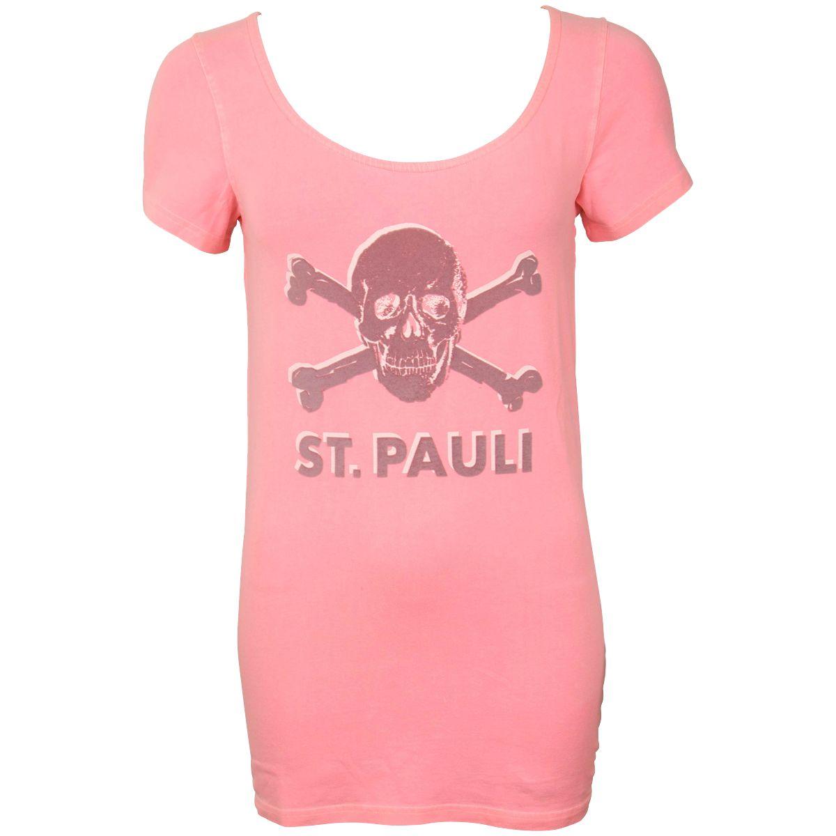 FC St. Pauli - Damen T-Shirt Ruby Totenkopf - pink