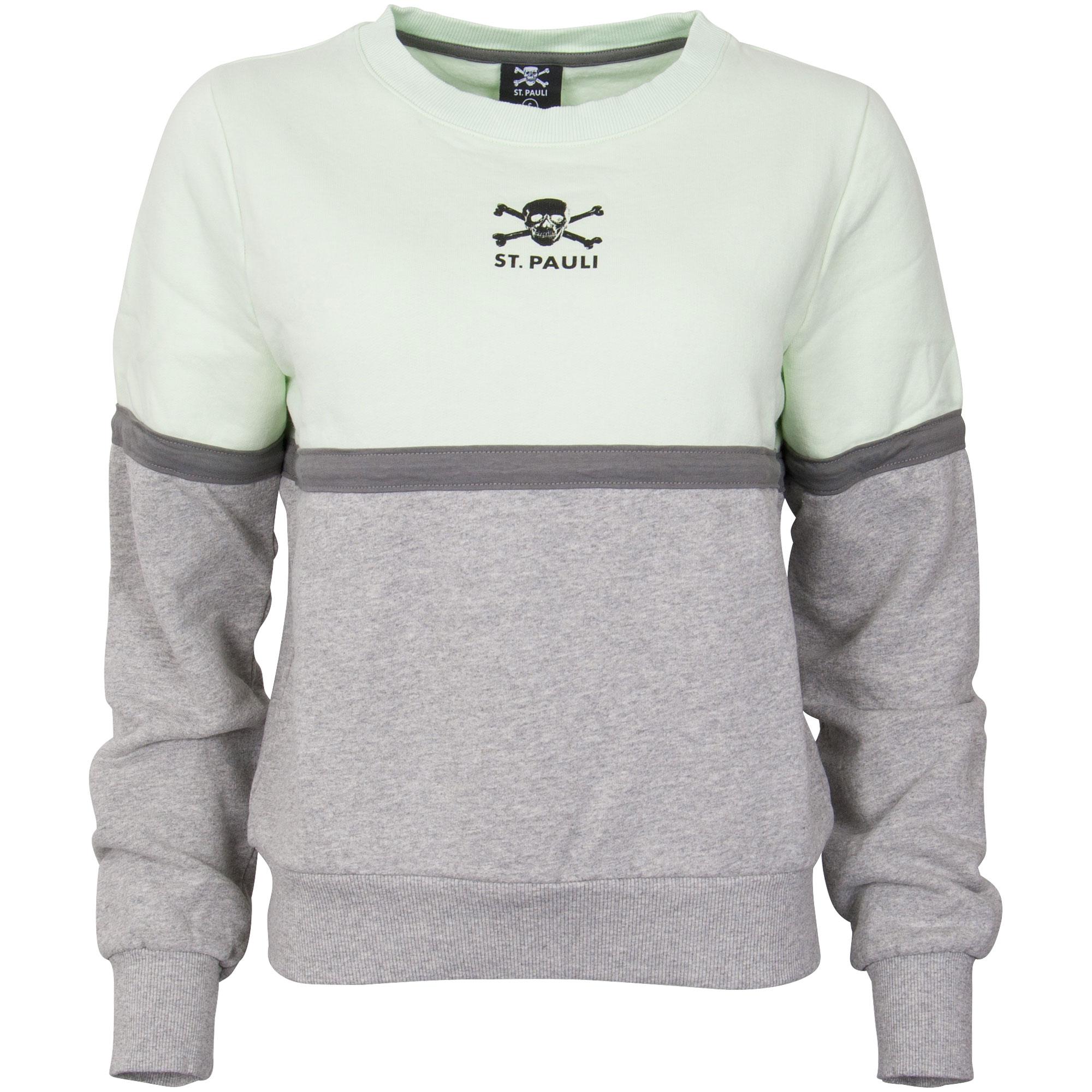 FC St. Pauli - Damen Sweatshirt 90`s Block - grau