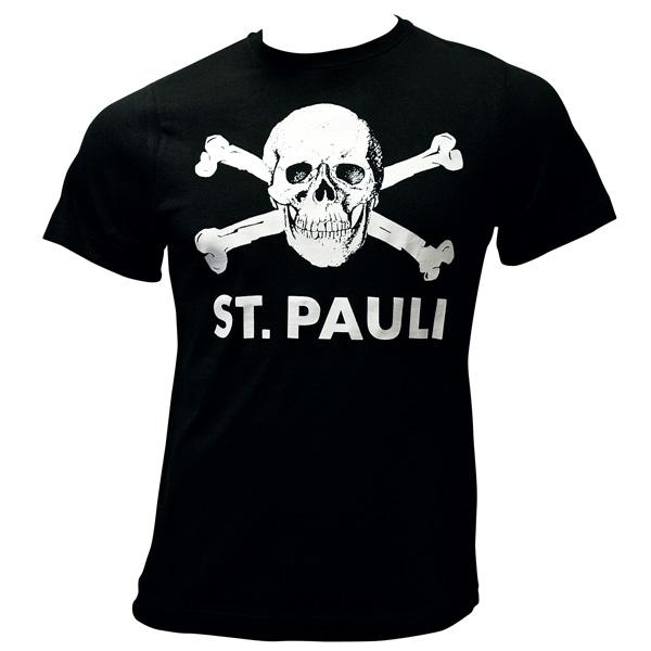 e39d1fc4c963f FC St. Pauli - T-Shirt Totenkopf - schwarz | ROCKnSHOP