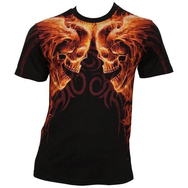 Spiral - Burn In Hell AllOver - T-Shirt vollflächig bedruckt - schwarz