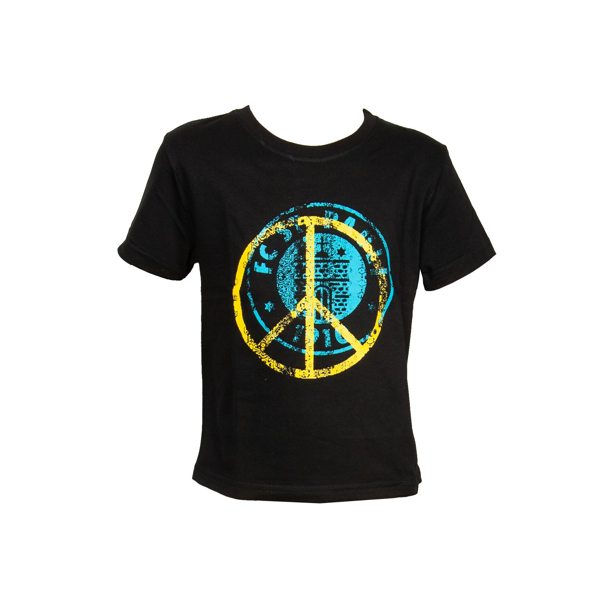 FC St. Pauli - Kinder T-Shirt Peace Türkis-Gelb - schwarz
