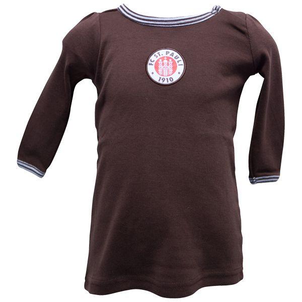 FC St. Pauli Baby Kleidchen Streifen - braun/weiß