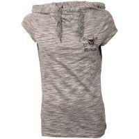 FC St. Pauli - Damen Kapuzen T-Shirt Salt & Pepper - grau