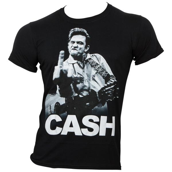 Johnny Cash - T-Shirt - Cash Finger - schwarz