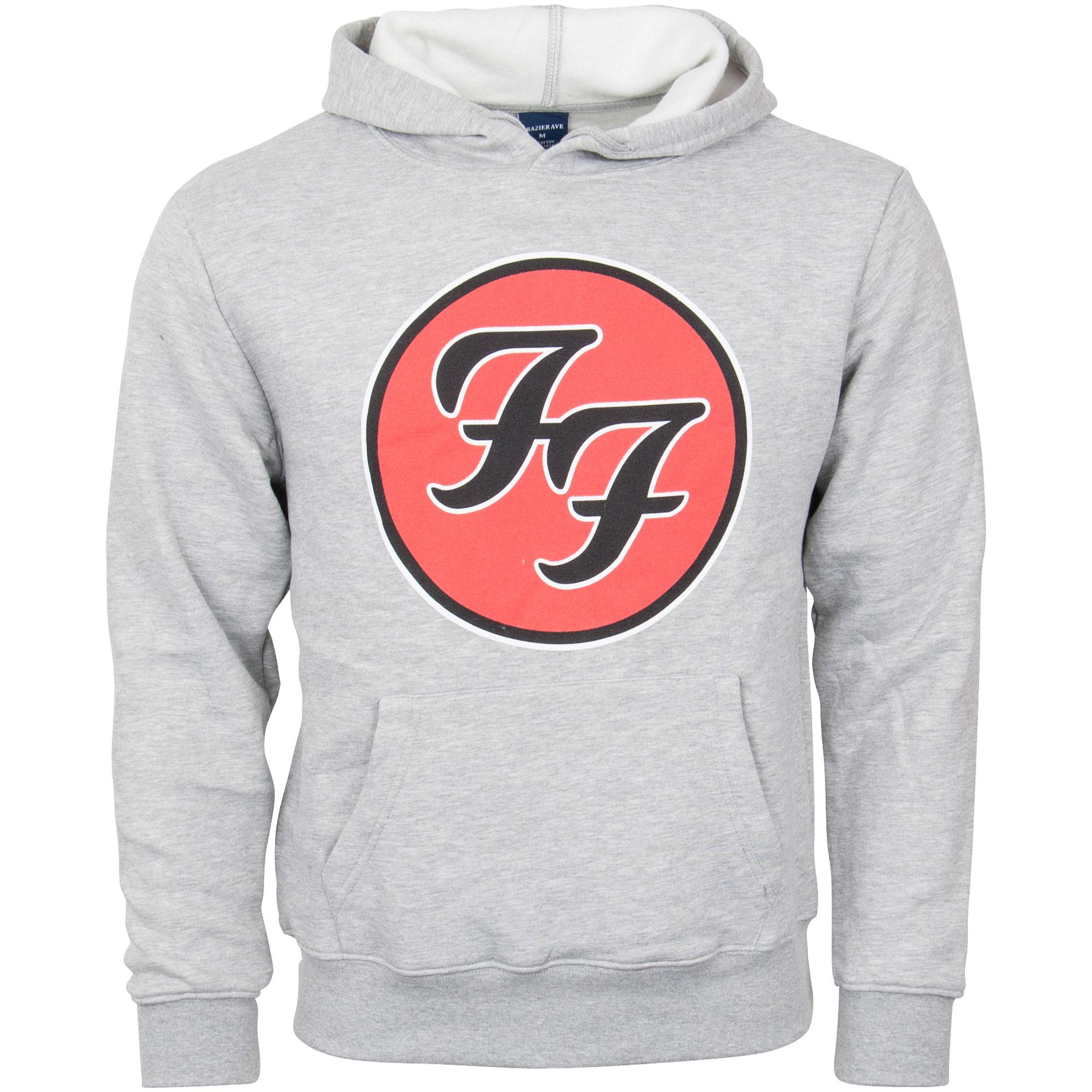 Foo Fighters - Kapuzenpullover Logo - grau