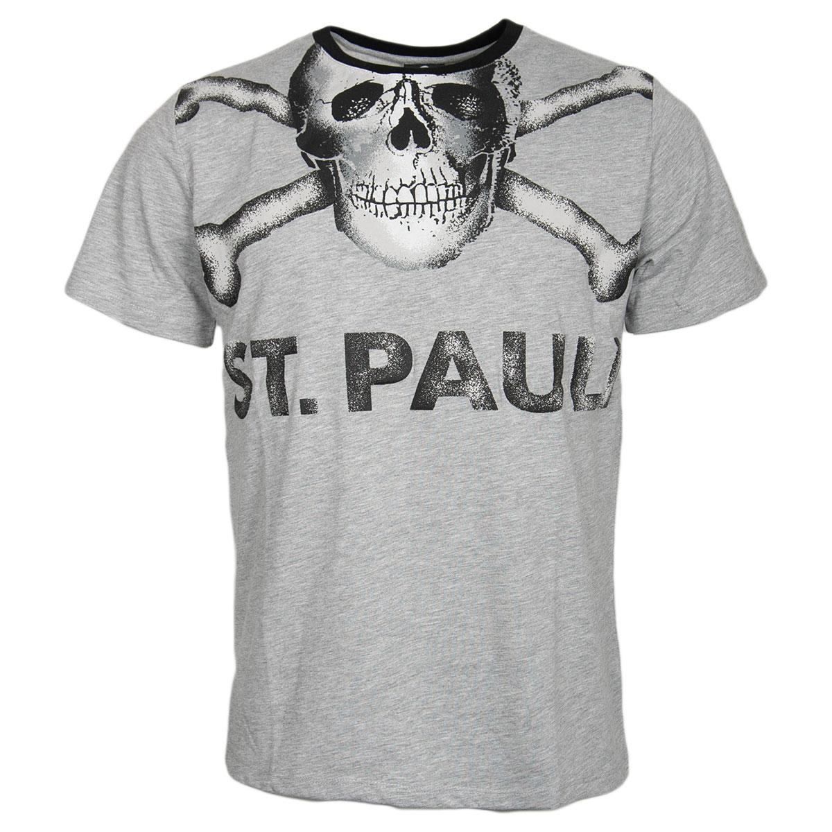 FC St. Pauli - T-Shirt Totenkopf Big - grau