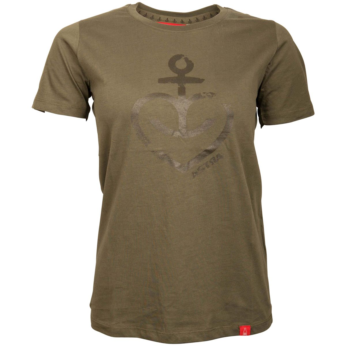 Astra - Damen T-Shirt Herzanker - oliv