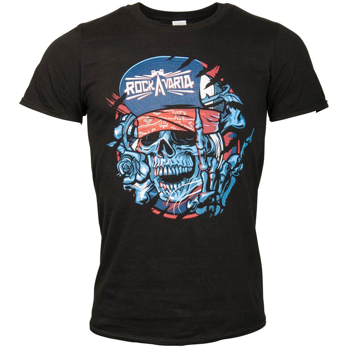 Offizielles Rockavaria 2018 - T-Shirt Skullvaria - schwarz