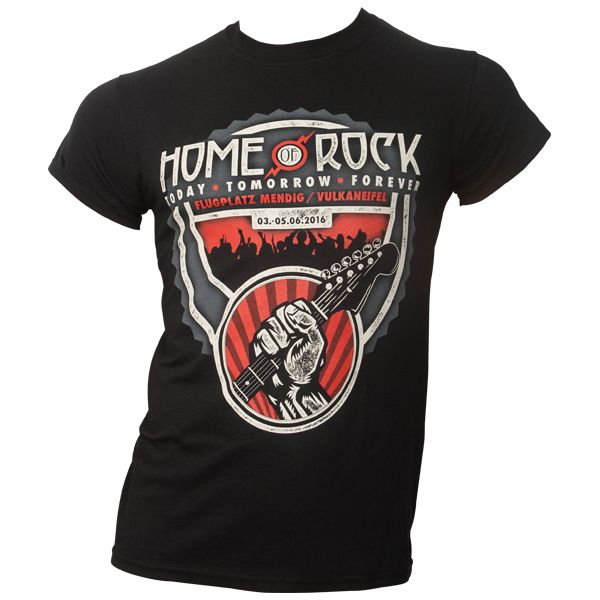 Rock am Ring 2016 - T-Shirt Crowd mit Lineup - schwarz