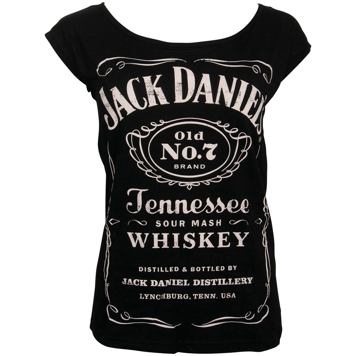 Jack Daniels - Damen T-Shirt Logo - schwarz