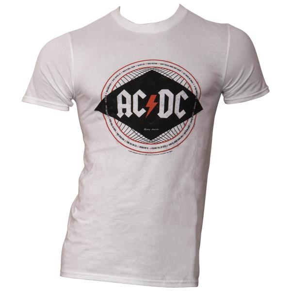 AC/DC - T-Shirt Diamond - weiß