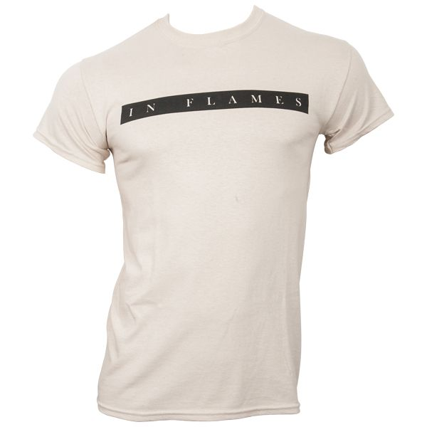 In Flames - T-Shirt Plain Logo - sand